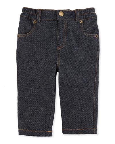 Andy & Evan Knit Denim Pants, 3-24 Months