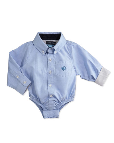 Oxford Button-Down Shirt, Blue, 3-24 Months