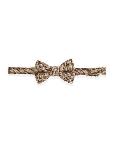 Andy & Evan Herringbone Tweed Bow Tie