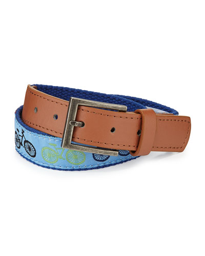 Andy & Evan Boys' Bicycle-Embroidered Belt, 6-24 Months