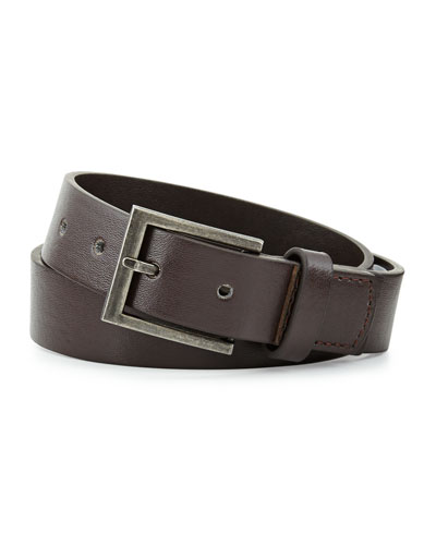 Andy & Evan Boys' Faux-Leather Belt, Brown