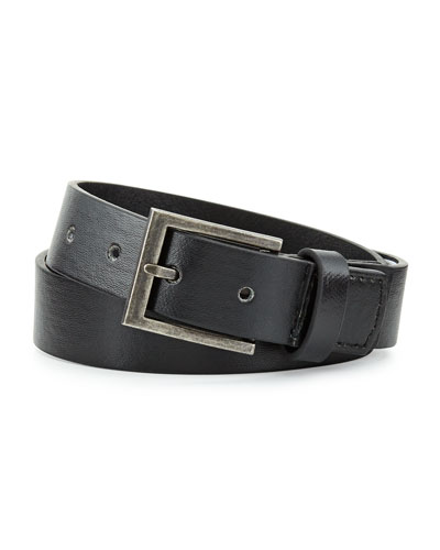 Andy & Evan Boys' Faux-Leather Belt, Black