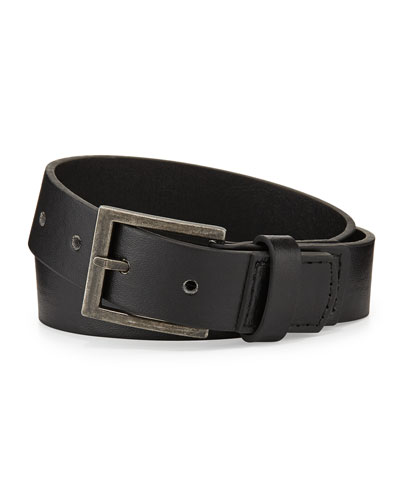 Andy & Evan Boys' Faux-Leather Belt, Black, 6-24 Months
