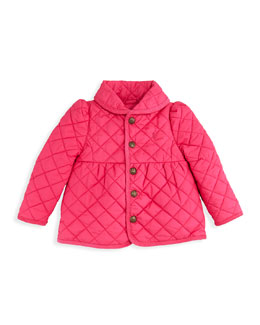 Ralph Lauren Childrenswear Quilted Barn Jacket, Currant, 2T-3T