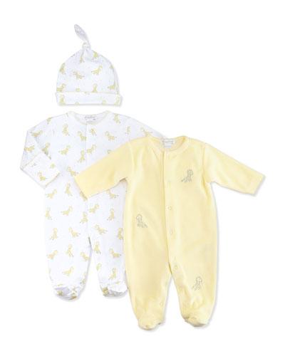 Kissy Kissy Giraffe Babies Printed Footie, NB-9 Months