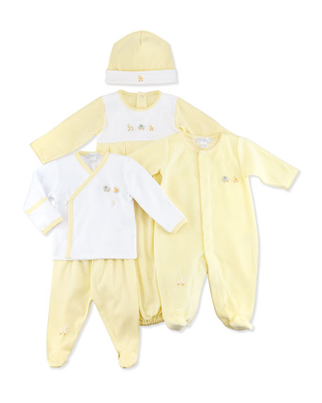 Kissy Kissy Baby Pull Toys Top/Footed Pant Set, NB-9 Months