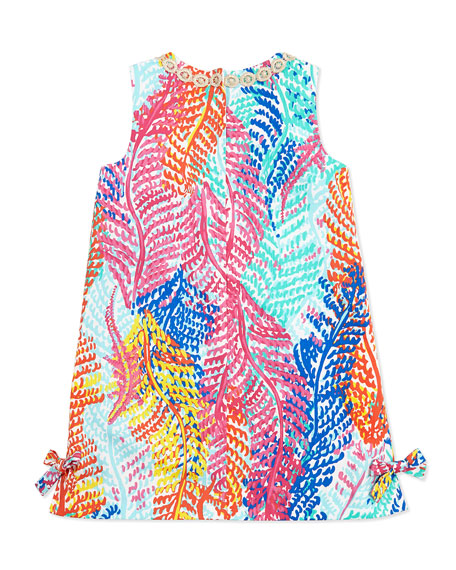 fa302f59860767 Lilly Pulitzer Little Lilly Fern-Print Classic Shift Dress, Cameo White,  Sizes 2-10