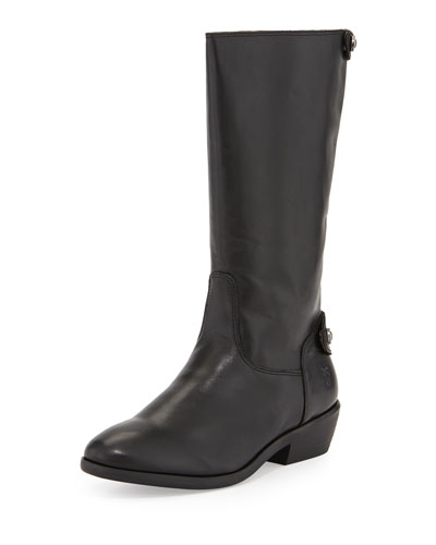 Girls' Melissa Button Back-Zip Boot, Black