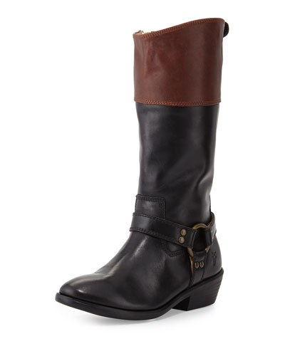 Frye Melissa Two-Tone Harness Boot