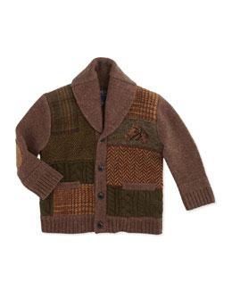 Ralph Lauren Childrenswear Long-Sleeve Button-Front Wool Blazer, Cocoa Brown, 9-24 Months