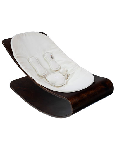 Coco Stylewood Baby Lounger, Cappuccino/White