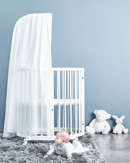 Sleepi Mini Baby Crib Bundle, White