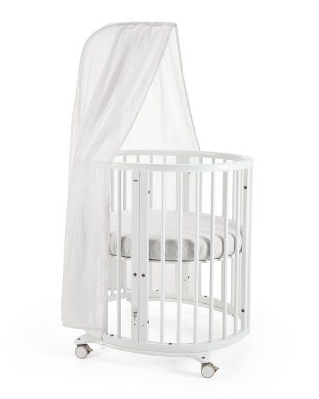Sleepi Mini Baby Crib Bundle, Canopy for Stokke