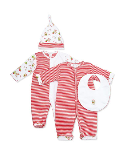 Kissy Kissy Reindeer Fun Footie & Hat Set, NB-9 Months