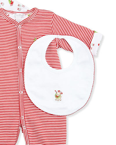 Kissy Kissy Reindeer Fun Reversible Bib