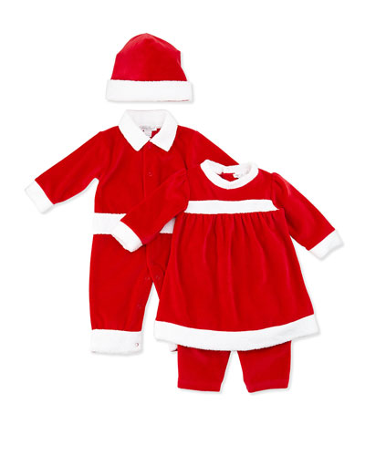 Kissy Kissy Reindeer Fun Velour Dress with Pants, NB-9 Months