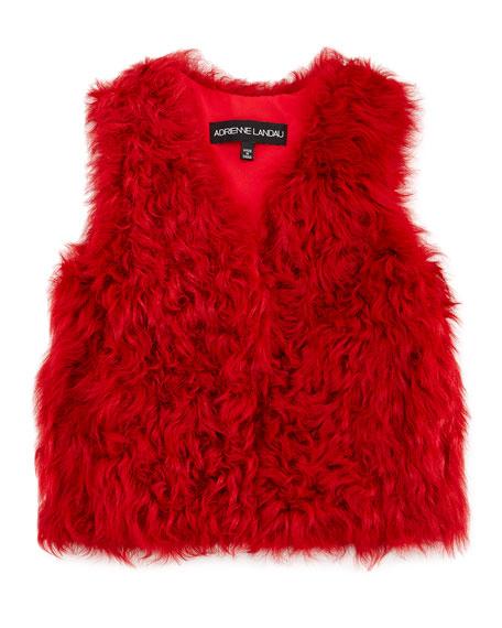 Kalgan Plush Shearling Vest, Red