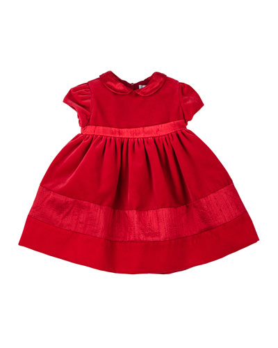 Florence Eiseman Short-Sleeve Velvet Dress, 3-24 Months