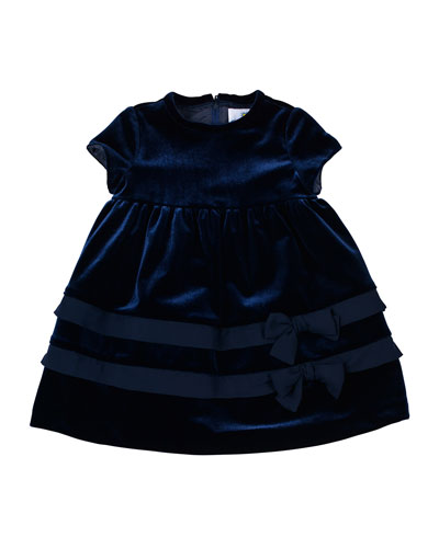 Florence Eiseman Velvet Dress with Chiffon-Trim, 12-24 Months