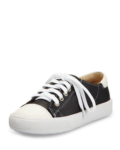 Leather Cap-Toe Sneaker, Youth