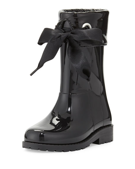 Igor Rain Boots with Bow, Black