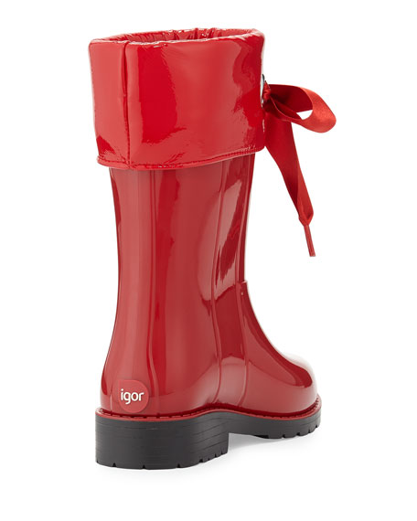 Igor Rain Boots with Bow, Red