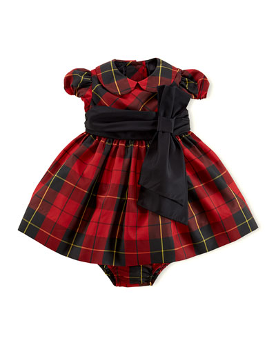 Ralph Lauren Childrenswear Taffeta Tartan Plaid Dress & Bloomer, 3-24 Months