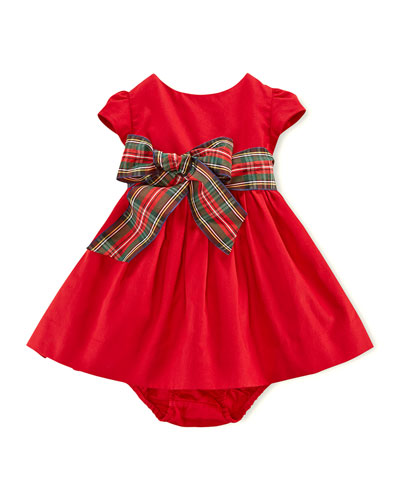 Ralph Lauren Childrenswear Cotton-Sateen Dress & Bloomer, 3-24 Months
