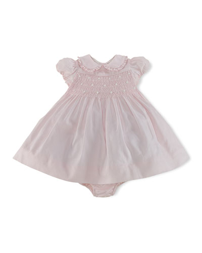 Ralph Lauren Childrenswear Smocked Woven Dress & Bloomer, 3-24 Months