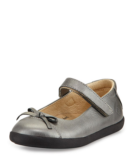 Old Soles Leather Cap-Toe Ballet Flat, Youth