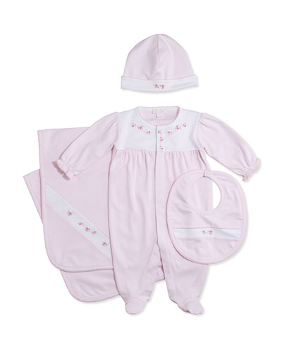 Kissy Kissy Rosebud Trails Footie, Pink, NB-9 Months