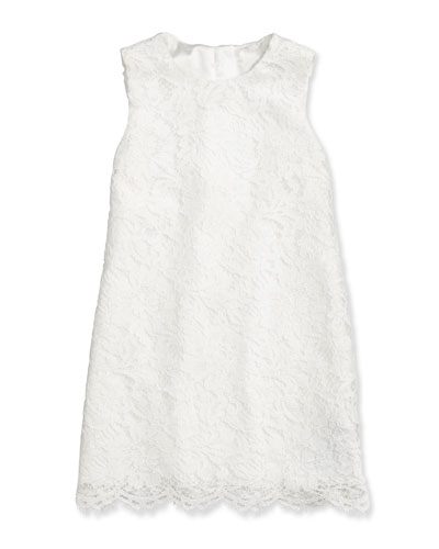 Lace-Overlay Shift Dress, Sizes 2-6