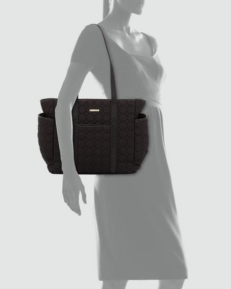 Marissa Quilted Diaper Bag, Black