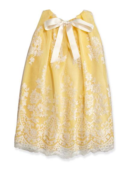 Sleeveless Lace Dress, Yellow, Sizes 2-6X