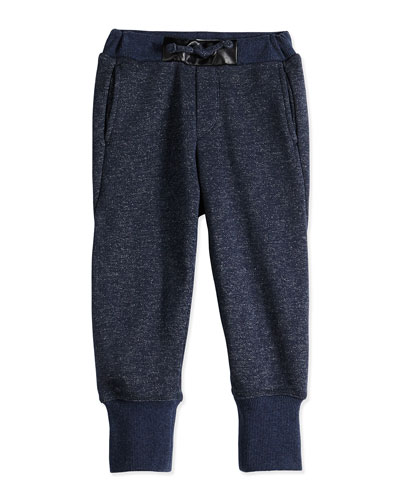 Girls' French Terry Sweatpants, Blue, Sizes 4-6X