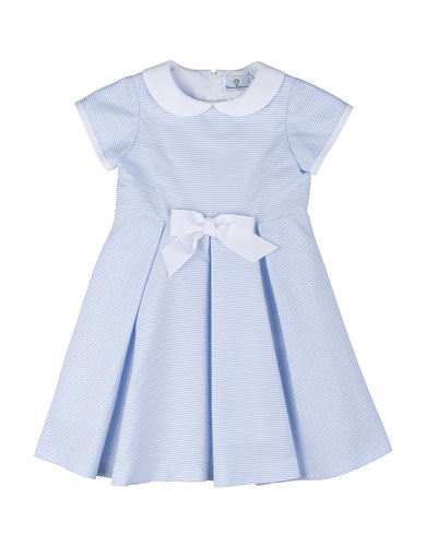 Striped Ottoman Dress, Blue/White, Size 2T-6X