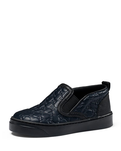 Board Leather Slip-On Sneaker, Navy, Toddler