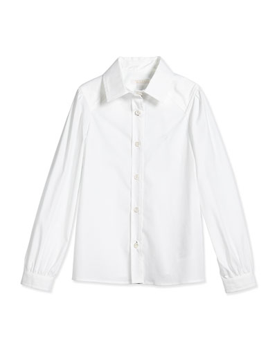 Designer Girls Clothing Size 7u002f8 Long Sleeve Poplin Shirt