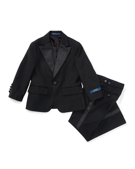 Ralph Lauren Childrenswear Fairbanks Wool Tuxedo, Black, Boy's