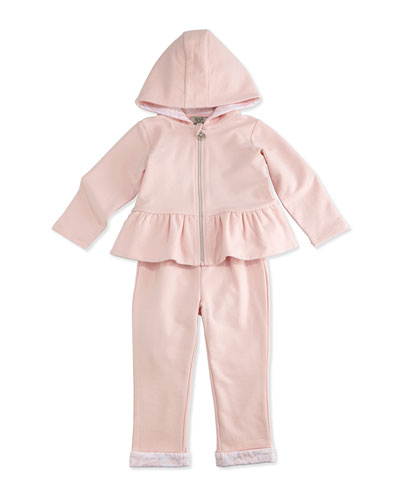 Two-Piece Hooded Track Suit, Pink, Size 3-24 Months