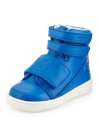 Kids' Grip-Strap High-Top Sneaker, Hydrangea