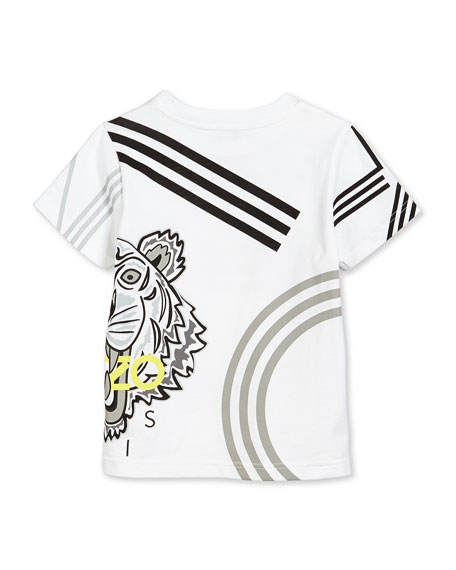 Graphic-Print Jersey Tee, White, Size 6-12