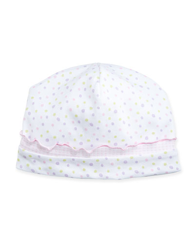 Summer Fun Polka Dot Baby Hat, Pink