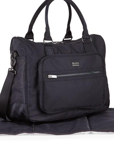 Hugo Boss Logo Printed Diaper Bag Navy