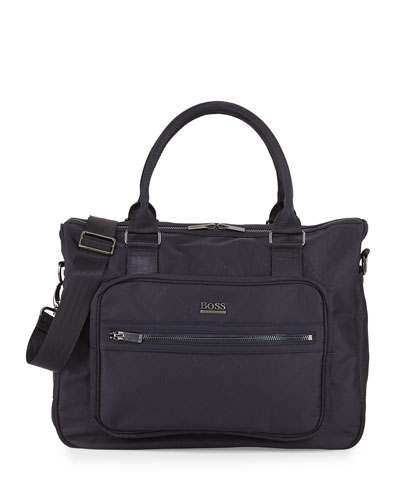 Logo-Printed Diaper Bag, Navy