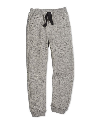 Fleece-Lined Track Pants, Gray, Size 6-12
