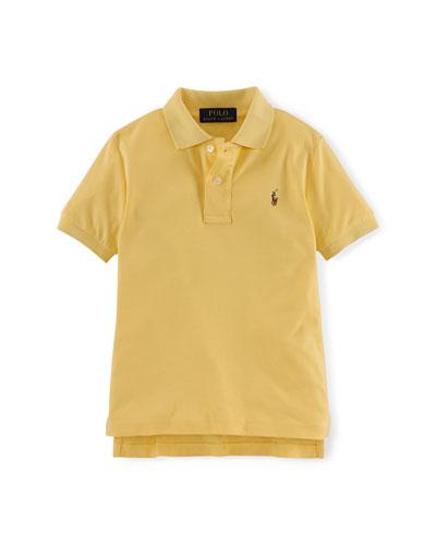 Short-Sleeve Pima Polo Shirt, Masters Yellow, Size 2-7