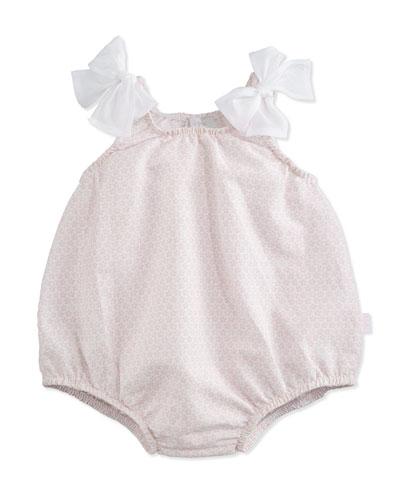 Floral-Print Bubble Playsuit, Pink, Size 3-12 Months