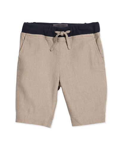 Casual Drawstring Shorts, Desert Sand, Size 2-7