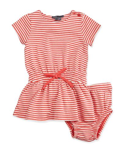 Short-Sleeve Striped Dress & Bloomers, Nectar, Size 6-24 Months